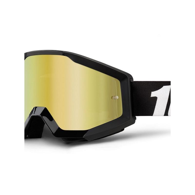 lunettes masque cross 100 strata outlaw ecran miroir or mx. Black Bedroom Furniture Sets. Home Design Ideas