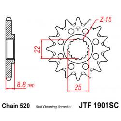 Pignon JT acier anti-boue type 1901 pas 520 13 dents KTM SX-250 2004-16
