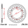 Couronne JT alu type 210 pas 520 51 dents HONDA CRF-250 04-09