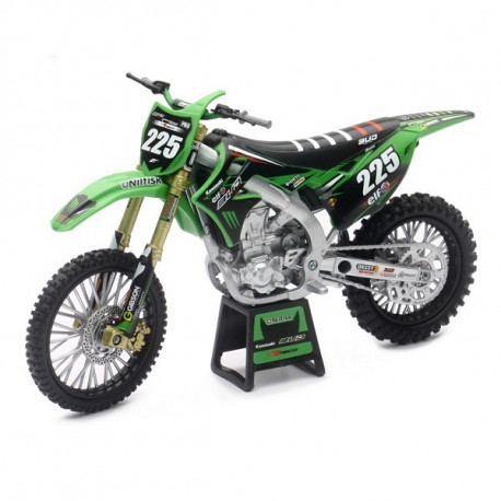 MAQUETTE MOTO CROSS KAWASAKI KXF 250 BUD RACING TEAM 17 REPLICA 225 1/12° NEWRAY