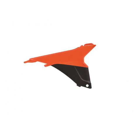 Caches boîte à air POLISPORT couleur origine orange/noir KTM SX SXF 125 250 350 450 2013/15