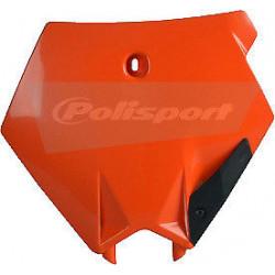 Plaque numéro frontale POLISPORT orange KTM SX 125 250 2003/06