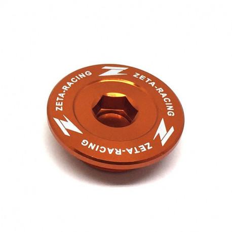 Bouchon carter d'allumage Zeta orange pour KTM 250-350-450 SXF 2007-18