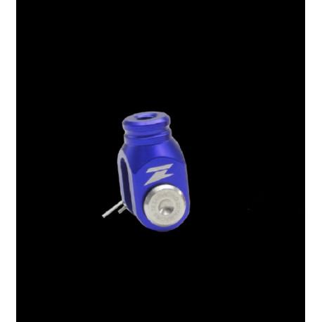 Chape de réglage de frein arrière zeta alu bleu KX 65 125 250 KXF 250 450