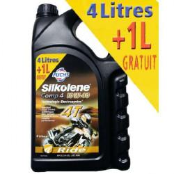 HUILE SILKOLENE COMP 4 MOTO 4 TEMPS 10w40 4L + 1L GRATUIT