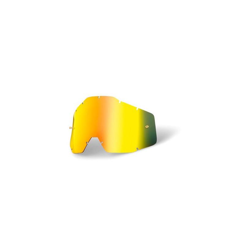 Ecran remplacement miroir or fume pour masque lunette 100 for Ecran en miroir