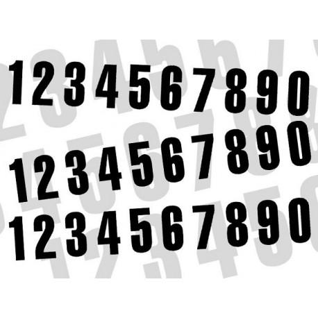 NUMERO DE COURSE NOIR BLACKBIRD - JEU DE 3 NUMEROS 16X7,5cm