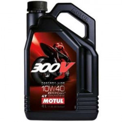 HUILE MOTEUR MOTUL 300V FACTORY LINE ROAD RACING 10W40 4T 100% SYNTHETIC 4 LITRES