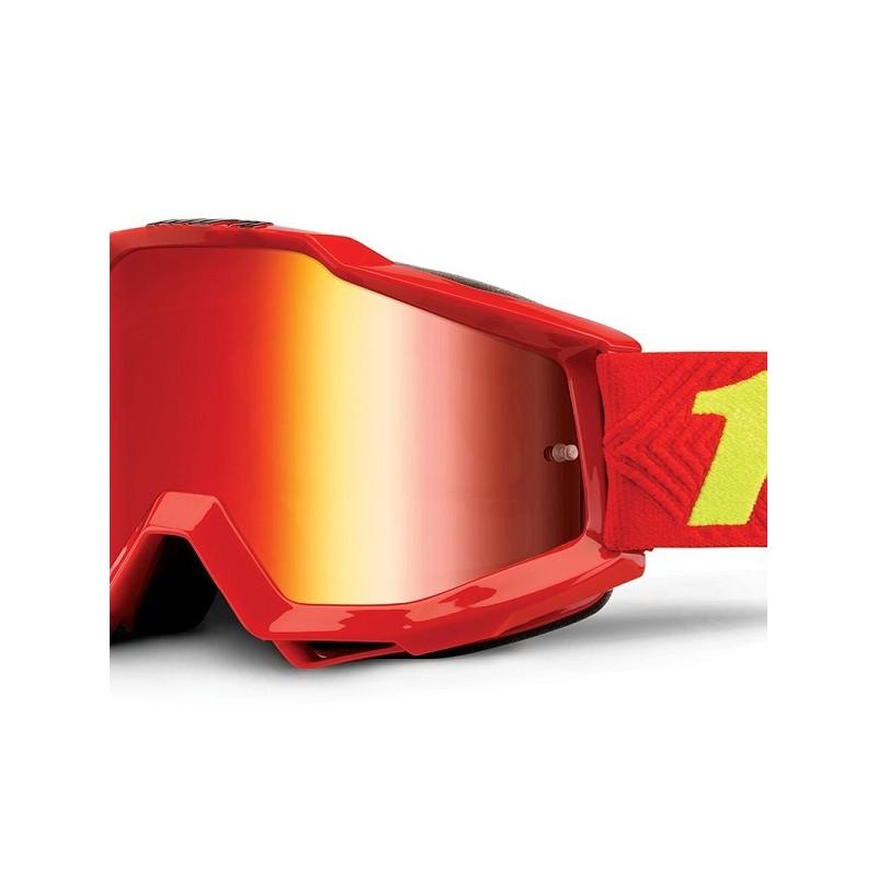 lunettes masque cross 100 accuri saarinen ecran miroir rouge mx. Black Bedroom Furniture Sets. Home Design Ideas