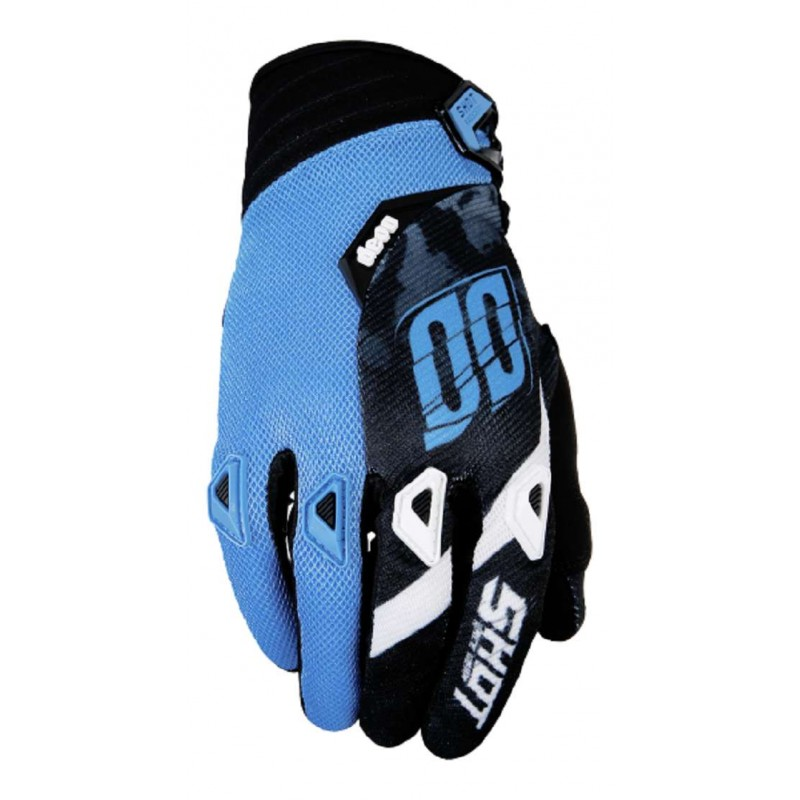 gants moto cross shot squad bleu mx. Black Bedroom Furniture Sets. Home Design Ideas
