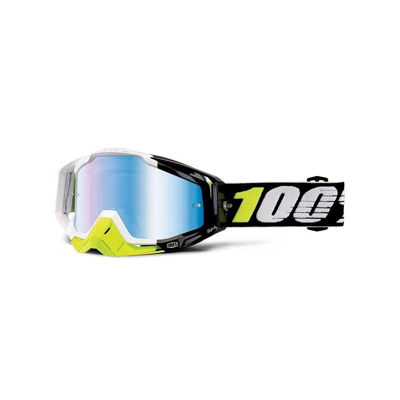 lunettes masque cross 100 racecraft emrata ecran miroir bleu mx. Black Bedroom Furniture Sets. Home Design Ideas