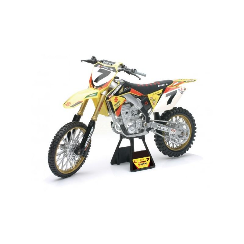 maquette moto cross suzuki 450 rmz rch factory racing james stewart 1 6 newray mx. Black Bedroom Furniture Sets. Home Design Ideas