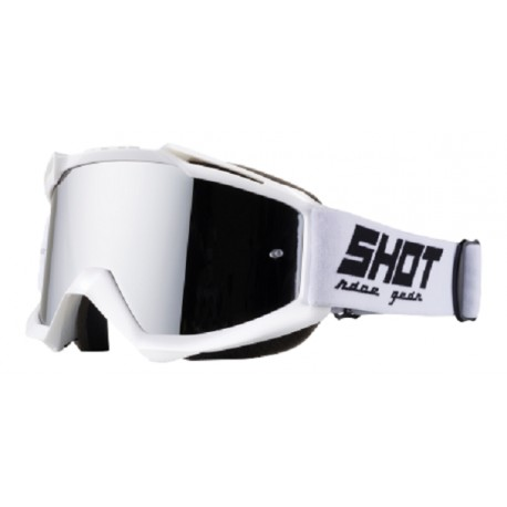 LUNETTE MASQUE MOTO CROSS SHOT IRIS SOLID BLANC