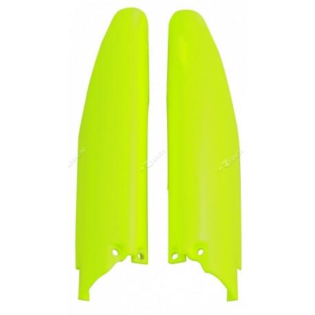 Protections de fourche RACETECH jaune fluo Suzuki 250 RMZ 10/17