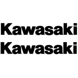 2 STICKERS AUTOCOLLANTS KAWASAKI NOIR 20cm
